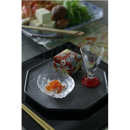 【美濃焼】八角皿/黒