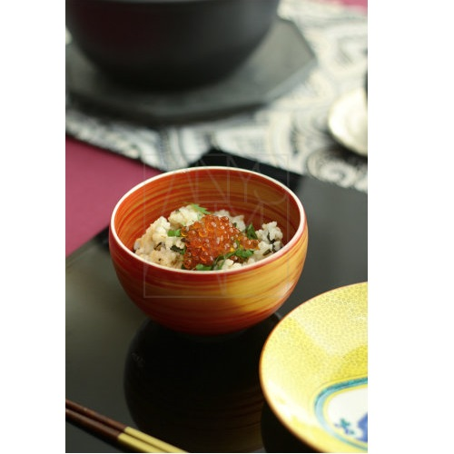 【美濃焼】茶碗/朱赤