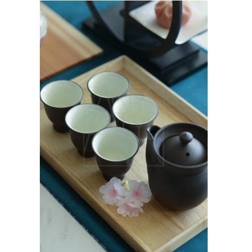 【清水焼】急須&茶器セット/焼しめ