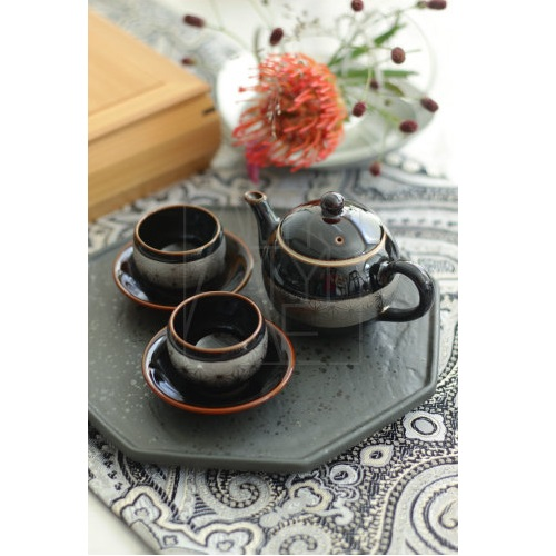 【波佐見焼】小茶器/銀麻