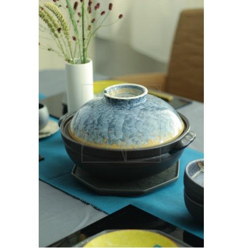 【清水焼】鍋/灰青花