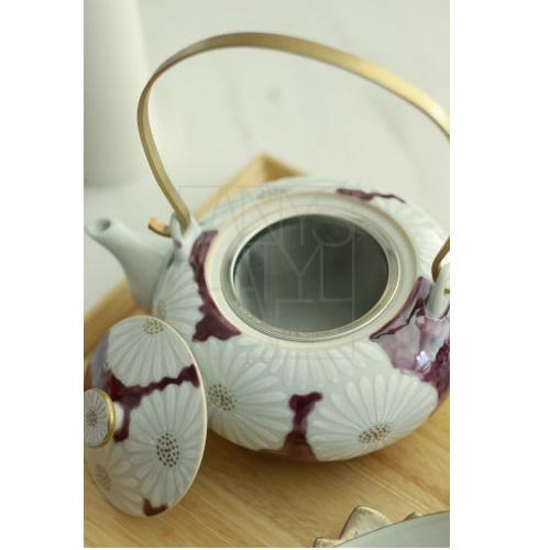 【清水焼】菊紫急須