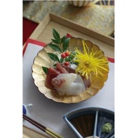 【有田焼】内金彩 菊皿14cm