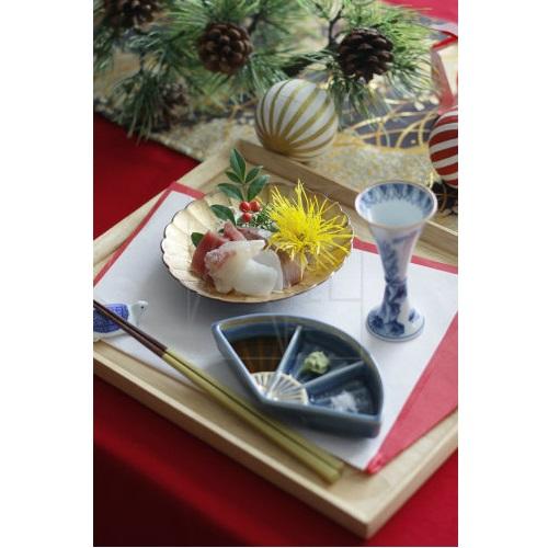 【有田焼】扇型三種皿
