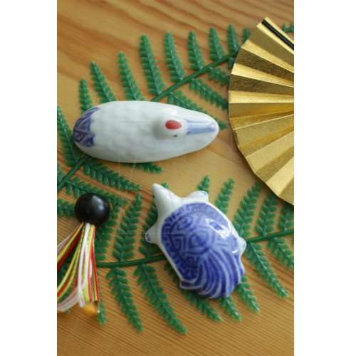 【有田焼】鶴亀 箸置ペアセット