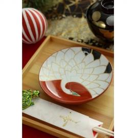 【有田焼】日の出鶴皿15cm