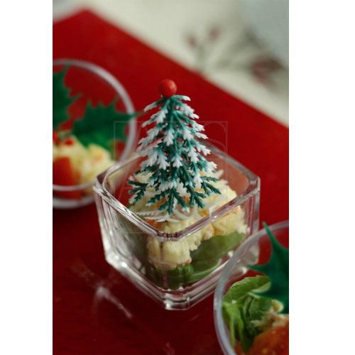 クリスマスツリー&柊ピック6本セット