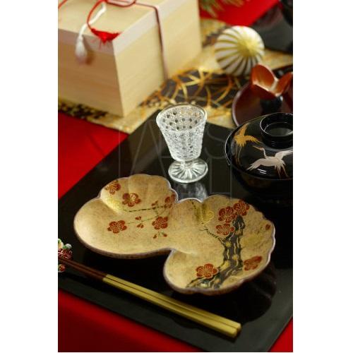 【清水焼】金彩梅皿
