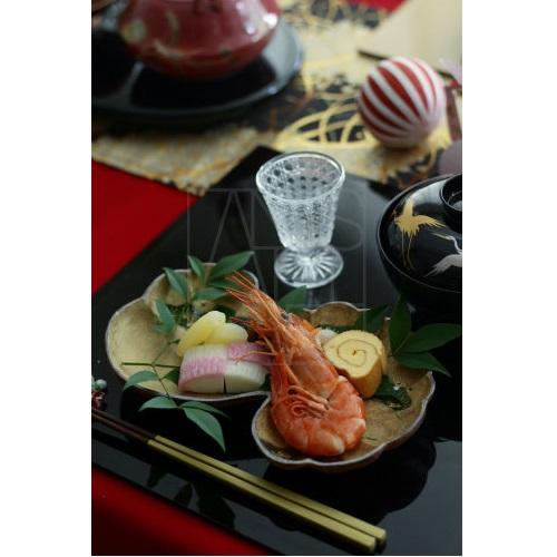 【清水焼】金彩松皿