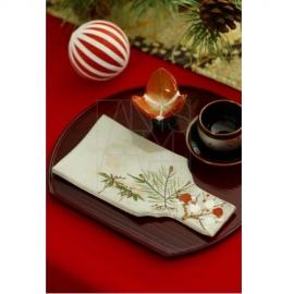 【清水焼】松竹梅 羽子板皿
