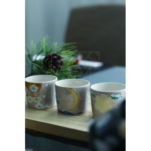 【清水焼】雪月花カップ3客セット