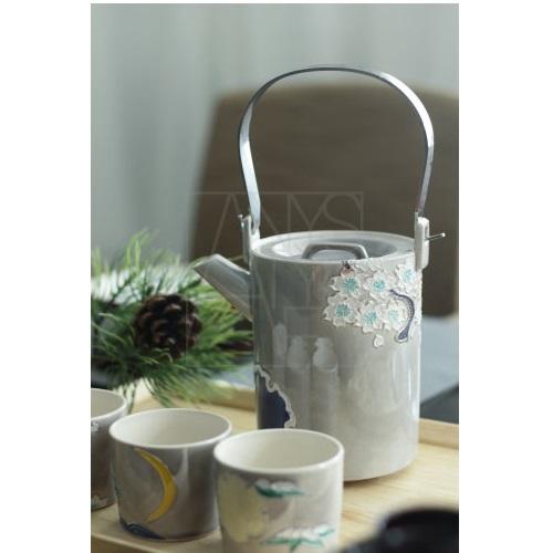 【清水焼】雪月花 石瓶