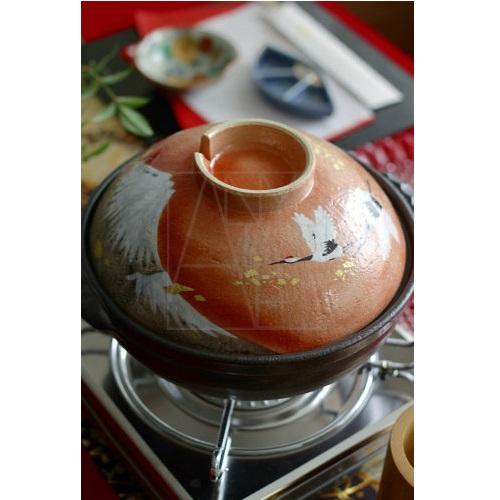 【清水焼】鍋/金彩富士