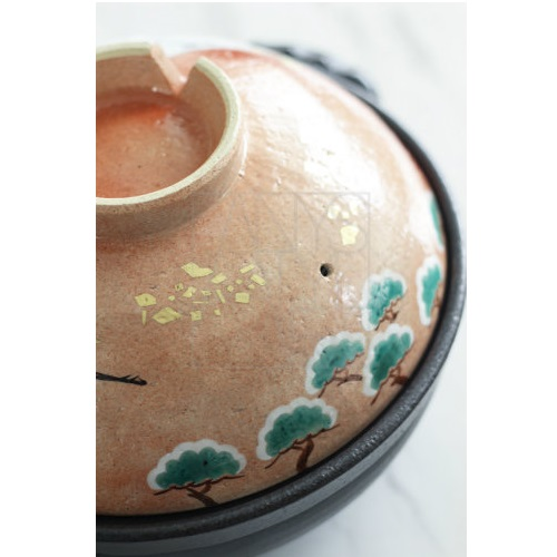 【50%OFF清水焼】鍋/金彩富士