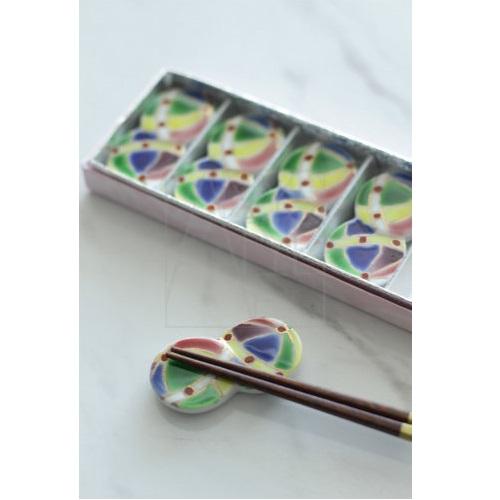 【清水焼】お箸置き5個セット/手まり