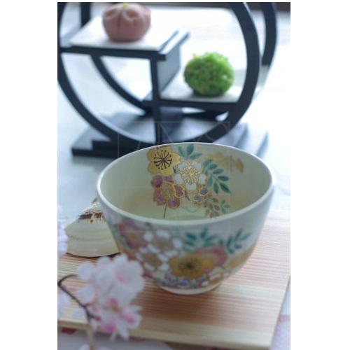 【清水焼】藤桜 抹茶椀