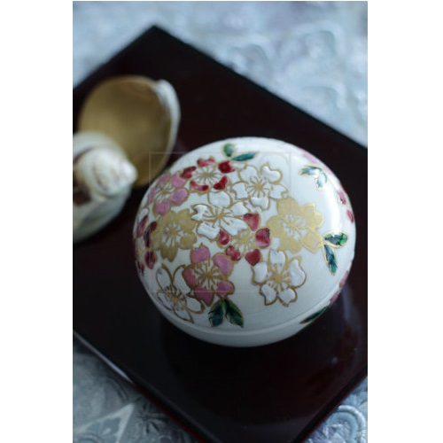 【清水焼】蓋物/桜