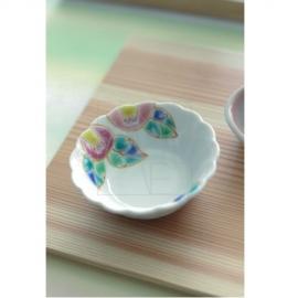 【九谷焼】菊型小付/椿