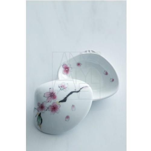 桜絵貝型珍味入