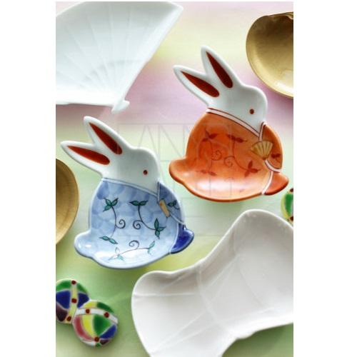 【有田焼】うさぎ雛豆皿セット