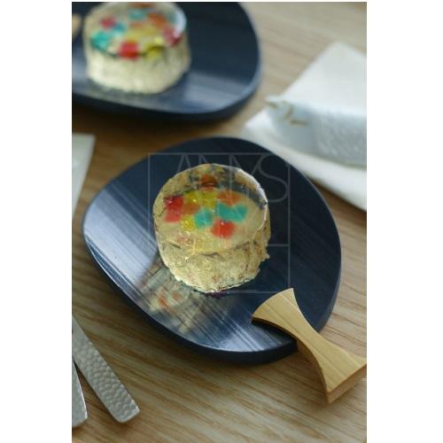 藍うちわ菓子皿