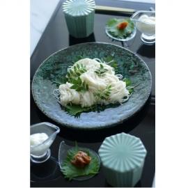 【美濃焼】深緑8寸皿
