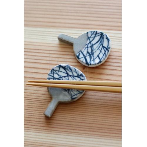 【美濃焼】お箸置き/うちわ2個セット