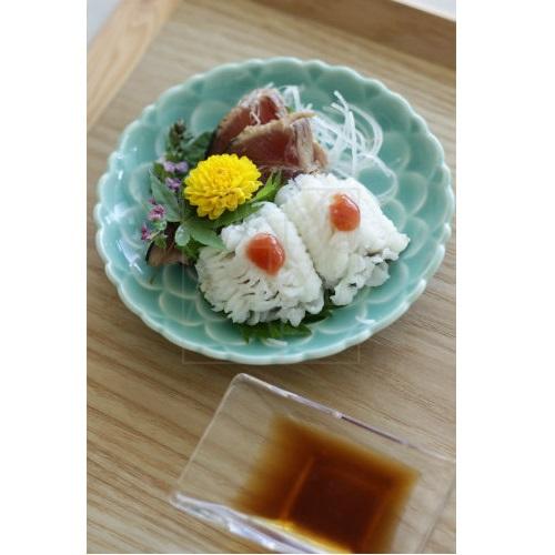 【30%OFF清水焼】青釉花彫皿