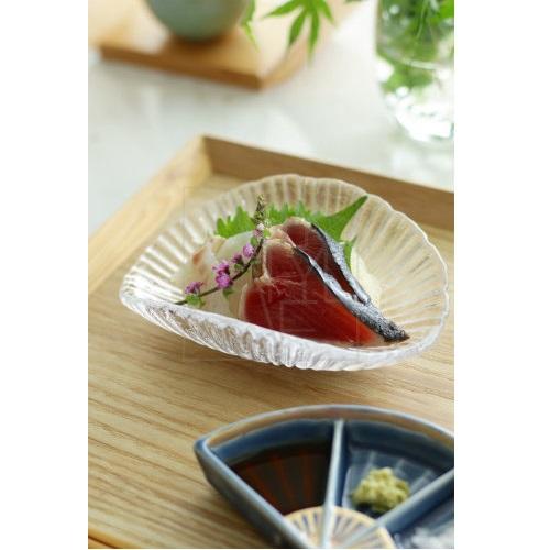 ガラス折皿