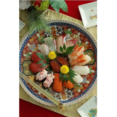 【有田焼】赤濃唐子 盛皿