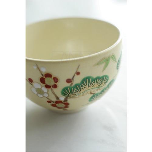 【清水焼】松竹梅 小茶碗