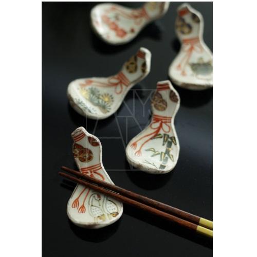 【清水焼】お箸置き5個セット/招福ひょうたん