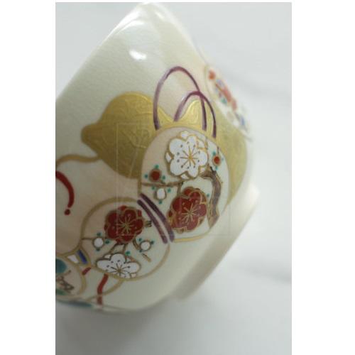 【清水焼】金彩六瓢 抹茶椀