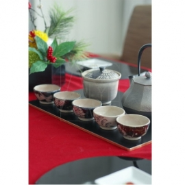 【清水焼】宝瓶+茶器5客セット