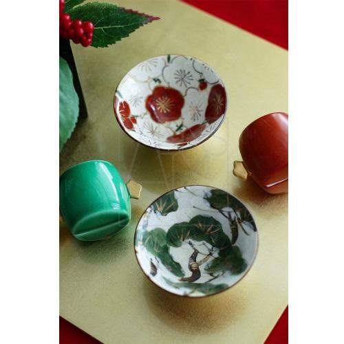 【清水焼】松小鉢/ぐい呑