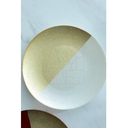 【30%OFF】ガラスプレート 紅白セット