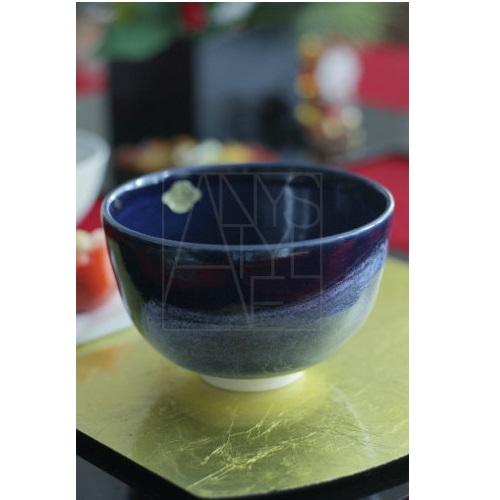 【清水焼】抹茶碗/青白刷毛