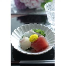 銀彩 菊深小皿