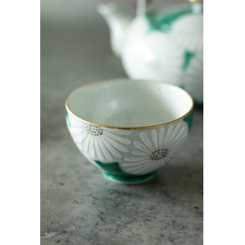 【清水焼】菊緑茶器5客セット