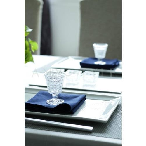 ガラス高杯/籠目紋