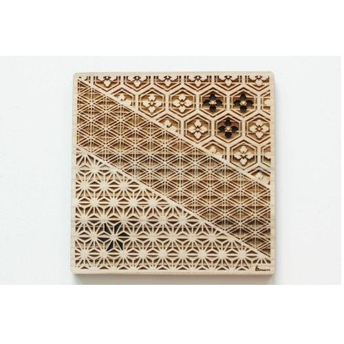 木製コースター/三紋