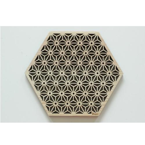 木製コースター/麻の葉