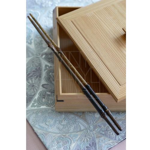 黒竹取箸 藤巻26cm
