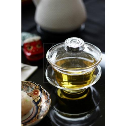 蓋付きガラス茶器