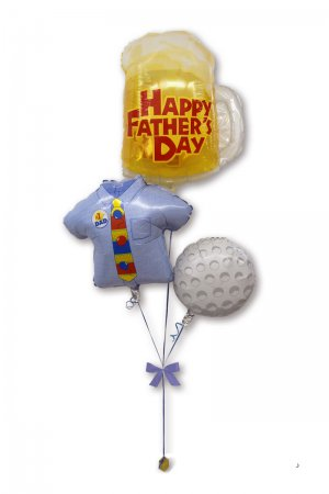 【バルーン】父の日 ビアマグ&ゴルフブーケ