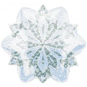 【バルーン】ホワイトクリスマススノーフレークプリズマティック
