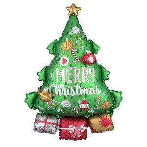 【バルーン】クリスマスツリーガーランド