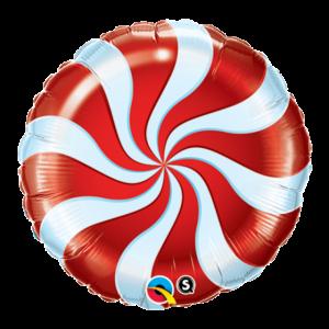 【バルーン】キャンディースワール レッド