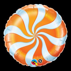 【バルーン】キャンディースワール オレンジ