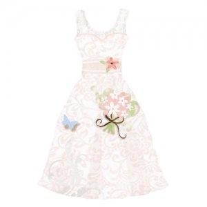 【バルーン】サムシングブルーウェディングドレス